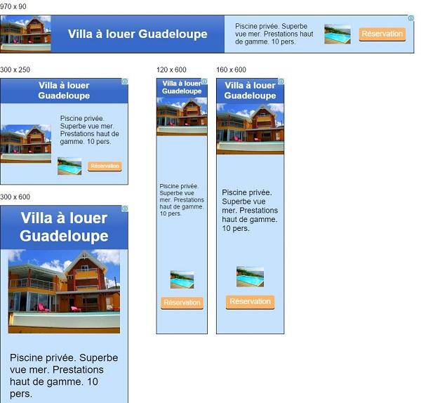 Publicité Villa Madras